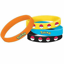 4Pcs Unisex Pokemon Go Pikach Wristband Silicone Bracelet Party Gift Bangle Cute