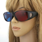 5X Black Frame Resin Red Blue 3D Glasses for Anaglyph Dimensional Movie DVD Game
