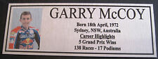 GARRY McCOY Sublimated Silver or Gold Plaque