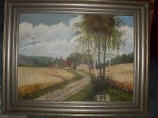 sehr altes Bild Original Gemalde, Landschaft