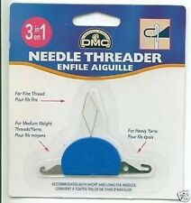 3 in 1 Needle Threader Suitable for Fine Med & Hvy Yarn