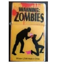 Zombie  Flip  Lighter ( refillable ) NEW  Adult Funny Sign Zombies Brain