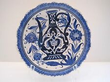 """Turkish """"Susler Gini"""" Hand made Pottery Decorative Plate"""