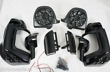 "6.5"" Speaker lower vented fairing w/ mounting hardware fits Harley Touring"
