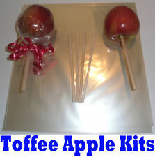 Toffee Apple Kit Para 25 Toffee manzanas (Bolsas / Wrappers, palos y cinta)