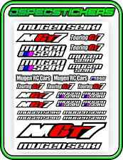 RC MUGEN SEIKI GT STICKER DECAL SHEET GT7 ECO NITRO REMOTE CONTROL RACE CAR RED