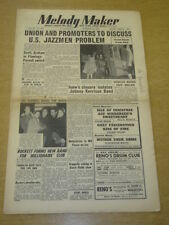 MELODY MAKER 1952 OCTOBER 25 MUSICIANS UNION US JAZZ CAFE ANGLAIS EVE BOSWELL +