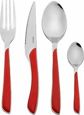 Stainless Steel Amefa Eclat 24 Piece Cutlery Set – Red  Dishwasher Safe