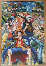 ONE PIECE POSTER MUGIWARA PIRATES LUFFY ZORO TRAFALGAR LAW  42x29 CM NEW