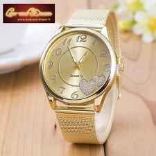 Montre femme Coeur en or| Gold Heart Woman Watch