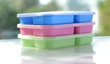 6 Lunch Boxes-Multi Colors divided Food storage containers plates+lids