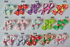 99p for 2 SALE baby/girls hair slides ,UK stock, alligator clips bows