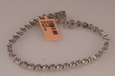 Ladies Diamond and White Gold Finish Bracelet Heart Design Teenis Bracelet