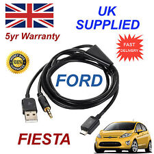 FORD Fiesta For Samsung HTC & LG Micro USB & 3.5mm Aux Audio Cable