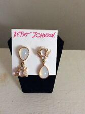 $35 Betsey Johnson Luminous Bug Drop Earrings New 2016 BJ 8