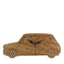 MINI COOPER vista laterale in legno orologio da parete-Made in Cornovaglia-wc.w.mis01