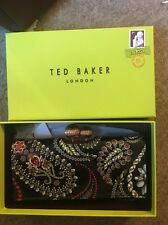 Bnwt Ted Baker Althea Treasured Trinkets Matinee Purse Patent Leather Black