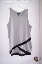 NEW Womens Gap Small Gray, Black Sleeveless Blouse Top  LOVE THIS BLOUSE!!!