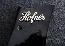 RAISED GOLD LOGO FOR HOFNER BEATLE BASS GUITAR & OTHERS