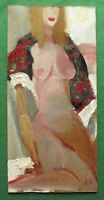 Original Oil Painting Paisley Shawl Nude by Petrenko : : Give Fine Art