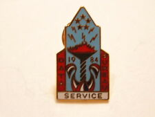 Vintage 1984 Los Angeles Olympic pin honoring the Data Service Bureau