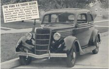 Ford V8 Tudor Sedan 1935 Salesmans Card Period Postcard