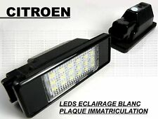 CITROEN BERLINGO AMPOULES LED LEDS ECLAIRAGE BLANC XENON PLAQUE IMMATRICULATION