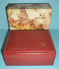 Authentic Red Rolex Watch Box with Tags Plus Extras