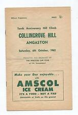 1962 Collingrove Hill Climb Programme Production Touring Racing Sports