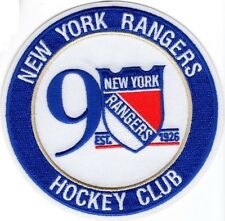 "NEW YORK RANGERS PATCH 90TH ANNIVERSARY 2016-17 SEASON JERSEY ""ROUND"" NHL STYLE"