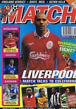 COLLYMORE LIVERPOOL / COLE MAN UTD / MIDDLESBROUGH / LEICESTER Match Apr 5 1997