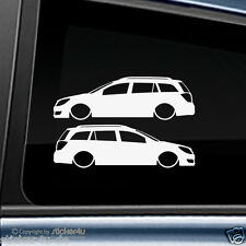 (1013) 2x Fun Sticker Aufkleber Low and Slow Opel Astra H Caravan Stickerbomb