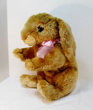 "16"" Commonwealth Plush Bunny Rabbit w/ Pink Bow 2006- Stuffed Animal Toys R Us"