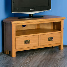 Surrey Oak Corner TV Stand / Oak Plasma Corner TV Unit / Brand New Rustic Oak