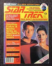 1988 March Official STAR TREK The Next Generation Magazine VG 4.0 Marina Sirtis