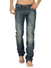 DIESEL JEANS NWT SAFADO 0804K MADE IN ITALY REGULAR SLIM STRAIGHT SZ:30 X 32
