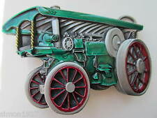 Traction engine belt buckle showmans engine steam engine.