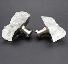 Uncut and Raw Quartz Cabinet Knobs and Drawer Pulls