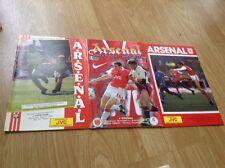 arsenal football programmes x3 (vs Chelsea, Nottingham Forrest, Wimbledon)