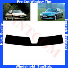 Pre Cut Window Tint Sunstrip for Peugeot 406 4 Doors Saloon 1995-2004 Any Shade