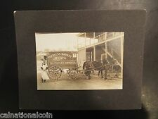 The Peoples Supply Co. Peerless Market Meats Vintage Mounted Photograph