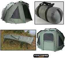 NGT Carp Fishing 2 Man 3 Rib Fortress Bivvy Tent + Saber 4 Seasons Sleeping Bag