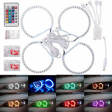 BMW E46 RGB 4*131MM Multi-Color 5050 Flash LED SMD 12V ANGEL EYES HALO RING kit