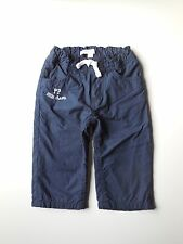 'PUMPKIN PATCH' BABY BOY NAVY TRACK PANTS SIZE 0 FITS 6-12M Excellent Condition