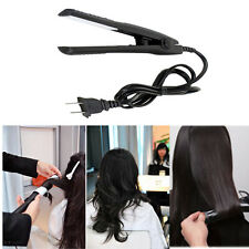 Mini 2 In1 Hair Straightener Flat Iron Curler Ceramic Tourmaline Perm Plates Hot