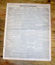 1845 newspaper Formation & detailed plan of the US Capital City of WASHINGTON DC