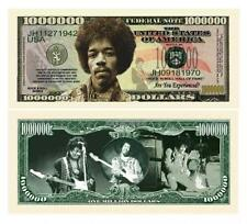 Jimi Hendrix Novelty One Million Dollar Bill