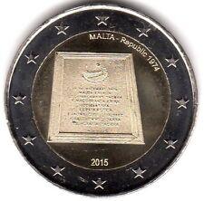 2 Euro-Sondermünze MALTA 2015  Ausruf der Republik NEU !!