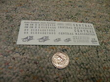 Herald King decals HO Central Manchester Radio Equipped silver ZZ56