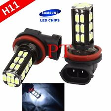 H11 Samsung LED 30 SMD Super White 6000K Headlight Xenon Light Bulbs Low Beam